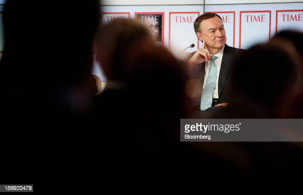 Mike Duke chief executive officer of WalMart Stores Inc pauses during a forum session on the opening day of the World Economic Forum in Davos...