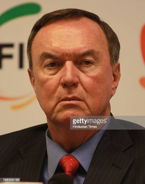 Mike Duke President and CEO Walmart Stores Inc addressing the interactive meeting organised by FICCI on October 26 2010 in New Delhi India