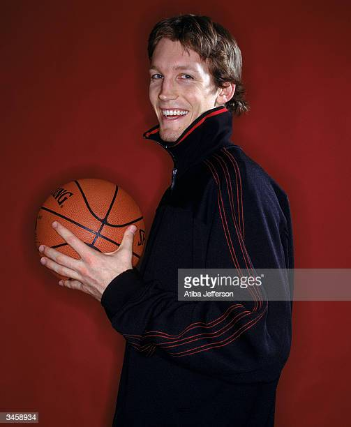 Mike Dunleavy Jr of the Golden State Warriors poses for a portrait during the 2004 NBA AllStar Weekend on February 13 2004 in Los Angeles California...