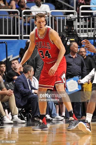 Mike Dunleavy of the Chicago Bulls during the game against the Orlando Magic on March 26 2016 at Amway Center in Orlando Florida NOTE TO USER User...