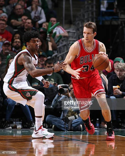 Mike Dunleavy of the Chicago Bulls handles the ball against the Milwaukee Bucks in Game Six of the Eastern Conference Quarterfinals of the 2015 NBA...