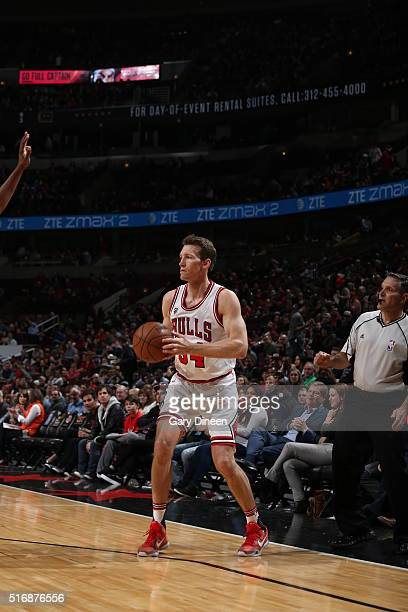 Mike Dunleavy of the Chicago Bulls handles the ball against the Sacramento Kings on March 21 2016 at the United Center in Chicago Illinois NOTE TO...
