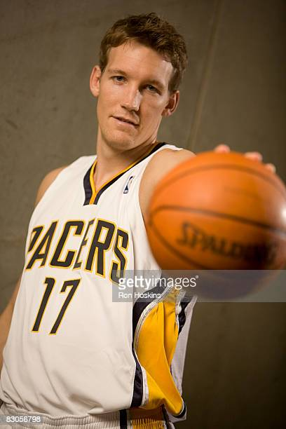 Mike Dunleavy of the Indiana Pacers poses for a portrait during NBA Media Day on September 29 2008 at Conseco Fieldhouse in Indianapolis Indiana NOTE...