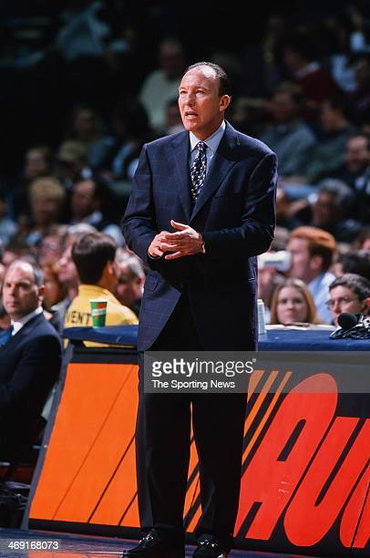 Mike Dunleavy Sr of the Portland Trail Blazers during the game against the Houston Rockets on December 21 1999 at Compaq Center in Houston Texas