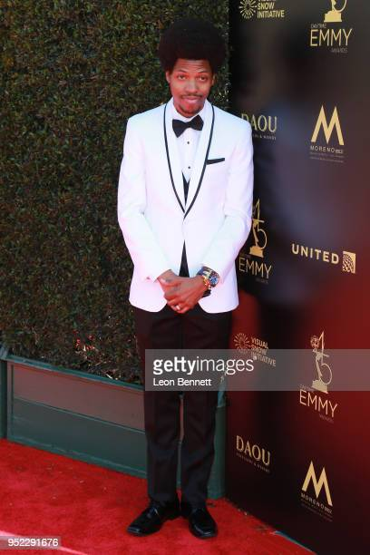 Mike E Winfield attends the 45th Annual Daytime Creative Arts Emmy Awards Arrivals at Pasadena Civic Auditorium on April 27 2018 in Pasadena...