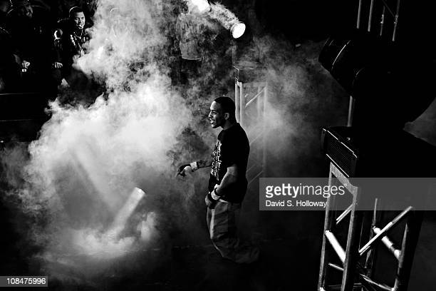 Mike Easton makes his way to the ring for his fight against Justin Robbins at Man 'O' War Extreme Cage Fighting at the George Mason University...