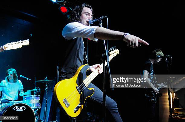 Mike Echeverria of Anarbor performs on stage during 'Give It A Name Introduces' tour at O2 Academy on May 3 2010 in Newcastle upon Tyne England