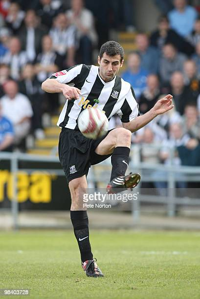 Mike Edwards of Notts County in action during the Coca Cola League Two Match between Northampton Town and Notts County at Sixfields Stadium on April...