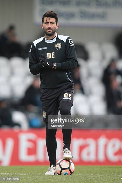 Mike Edwards Strength and Conditioning Coach of Notts County during The Emirates FA Cup - First Round match between Boreham Wood against Notts County...