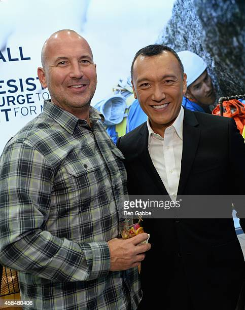 Mike Egeck and Joe Zee attend the Eddie Bauer NYC Store Opening on November 5 2014 in New York City