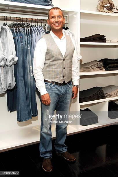 Mike Egeck attends 7 FOR ALL MANKIND New York Flagship Boutique Opening with VOGUE and Photo Exhibition by TIM MANTOANI at 7 For All Mankind on...