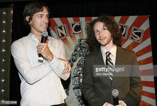 Mike Einziger and Brandon Boyd of Incubus during Incubus Album' Light Grenades Listening Party October 25 2006 at Kings Cross in Sydney NSW Australia