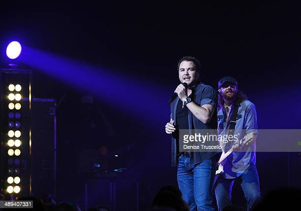 Mike Eli and James Young of the Eli Young Band perform at the Pearl inside the Palms Casino Resort on May 10 2014 in Las Vegas Nevada