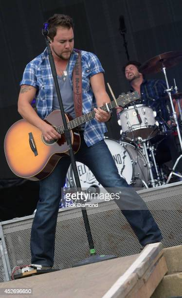 Mike Eli of Eli Young Band performs at Country Thunder USA Day 2 on July 25 2014 in Twin Lakes Wisconsin