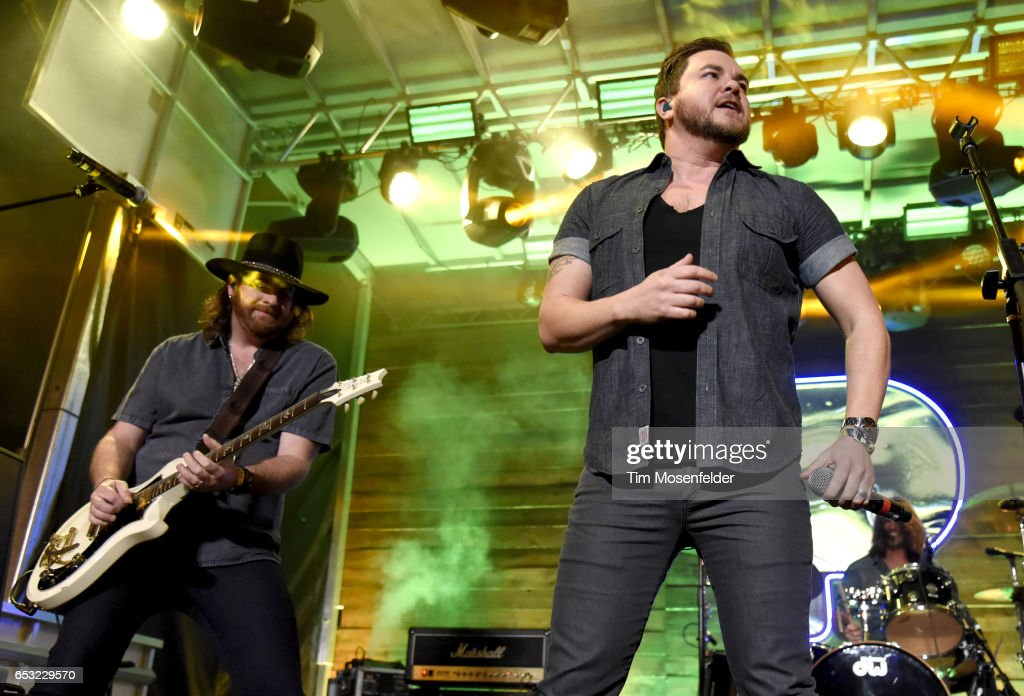 Mike Eli (R) of Eli Young Band performs at the Pandora Night Party during the 2017 SXSW Conference And Festivals on March 13, 2017 in Austin, Texas.