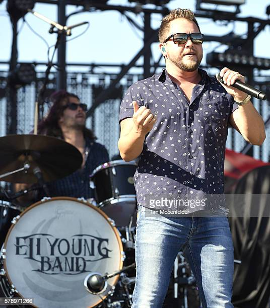 Mike Eli of the Eli Young Band performs during Country Jam USA on July 22 2016 in Eau Claire Wisconsin