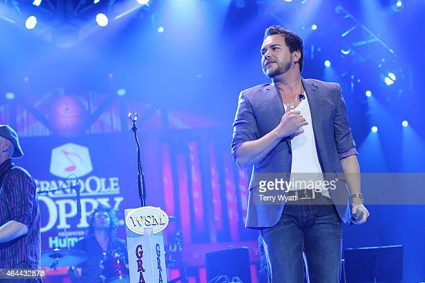 Mike Eli of the The Eli Young Band performs during The Grand Ole Opry at CRS 2015 on February 25 2015 in Nashville Tennessee