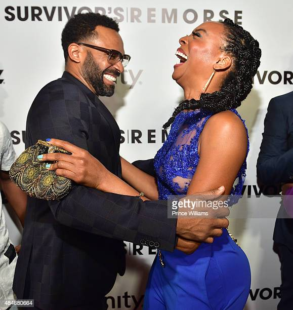 Mike Epps and Erica ash attend Red Carpet Event For Stars Network 'Survivor's Remorse' at Regal Cinemas Atlantic Station Stadium 16 on August 20 2015...