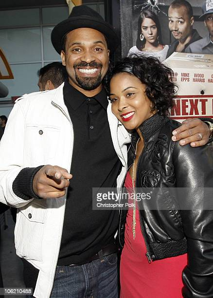 Mike Epps and Mechelle Epps arrive to a special Los Angeles screening of Next Day Air at ArcLight Cinemas in Hollywood CA on April 29 2009