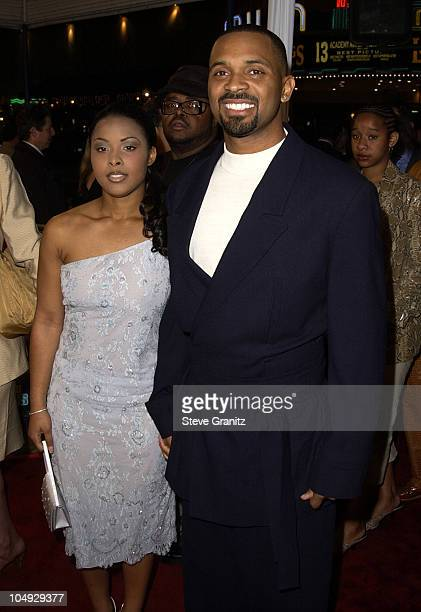 Mike Epps girlfriend Michelle during 'All About The Benjamins' Westwood Premiere at Mann Village Theatre in Westwood California United States