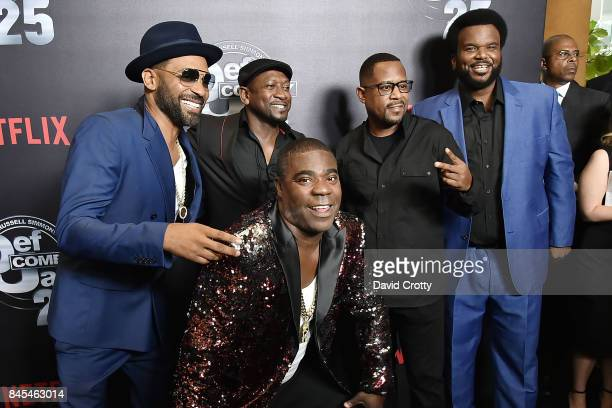 Mike Epps Joe Torry Martin Lawrence Craig Robinson and Tracy Morgan attend Netflix Presents Def Comedy Jam 25 at The Beverly Hilton Hotel on...
