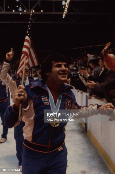 Mike Eruzione US hockey team gold medal winners in the Men's ice hockey tournament the 'Miracle on Ice' at the 1980 Winter Olympics / XIII Olympic...