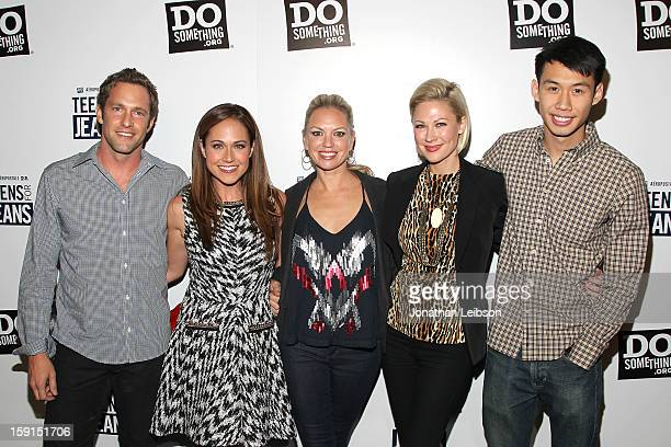 Mike Faiola Nikki Deloach Barret Swatek Desi Lydic and Kelly Sry attend the Aeropostale Inc And DoSomethingorg's 6th Annual Teens For Jeans Campaign...