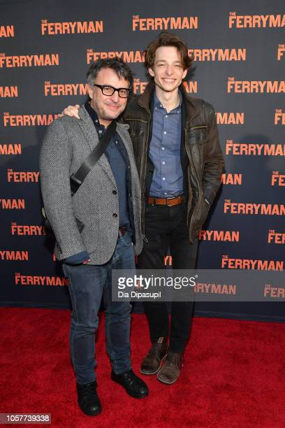 """Mike Faist and guest attend """"The Ferryman"""" Broadway opening night at The Bernard B. Jacobs Theatre on October 21, 2018 in New York City."""