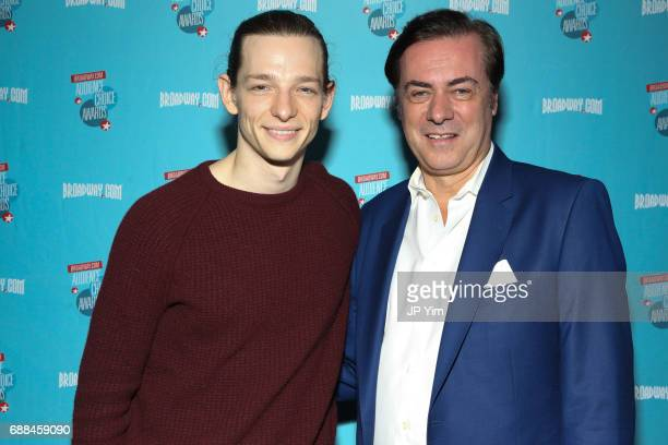 Mike Faist and John Gore attend the 17th Annual Broadwaycom Audience Choice Awards at 48 Lounge on May 25 2017 in New York City
