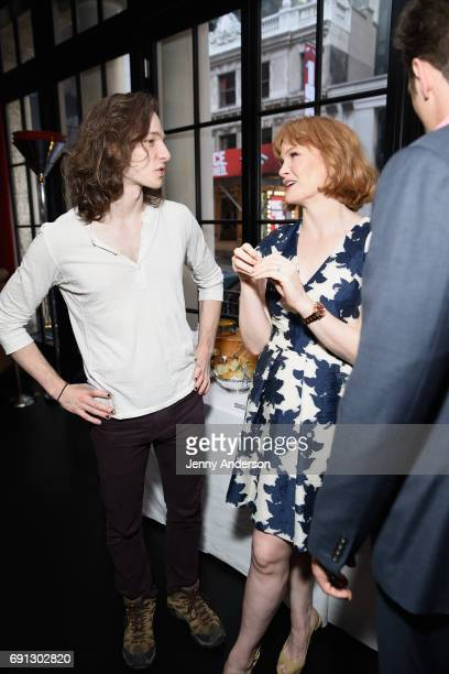 Mike Faist and Kate Baldwin attend Designed To Celebrate A Toast To The 2017 Tony Awards Creative Arts Nominees at The Lamb's Club at the Chatwal NY