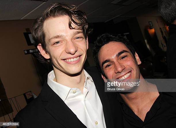 """Mike Faist and Tommy Bracco pose at the Opening Night After Party for the revival of Classic Stage Company's production of """"A Month In The Country""""..."""