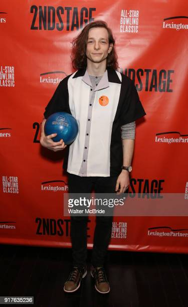 Mike Faist attends the Second Stage Theatre 2018 Bowling Classic at Lucky Strike on February 12 2018 in New York City