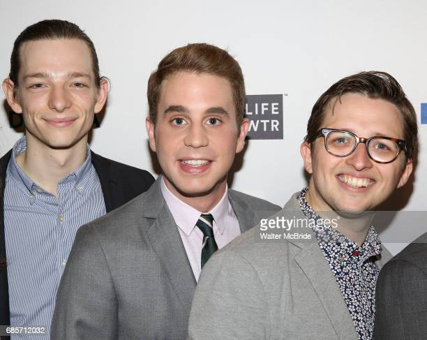Mike Faist Ben Platt and Will Roland attend the 83rd Annual Drama League Awards Ceremony at Marriott Marquis Times Square on May 19 2017 in New York...