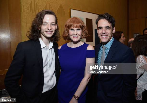 Mike Faist Kate Baldwin and Steven Levenson attends the Tony Honors Cocktail Party Presenting The 2017 Tony Honors For Excellence In The Theatre And...