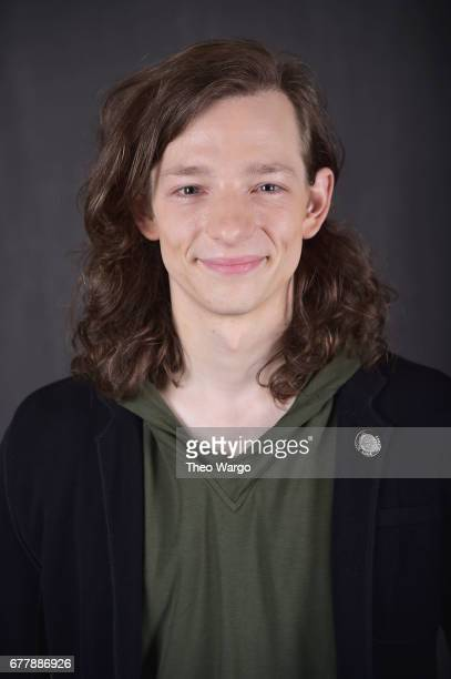 Mike Faist poses at the 2017 Tony Awards Meet The Nominees press junket portrait studio at Sofitel New York on May 3 2017 in New York City