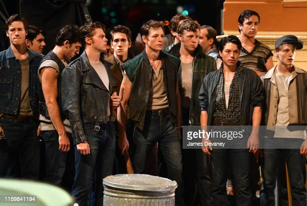 Mike Faist seen on location for 'West Side Story' in Washington Heights on August 4, 2019 in New York City.