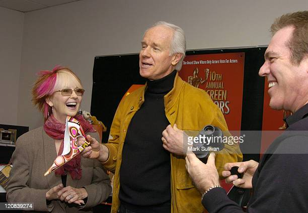 Mike Farrell Shelley Fabares and Jeff Margolis executive producer of The 10th Annual Screen Actors Guild Awards