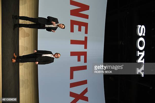 Mike Fasulo president and COO of Sony Electronics and Reed Hastings chairman president and chief executive officer of Netflix Inc speak about the...