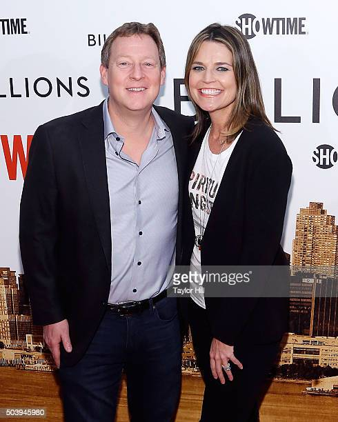 Mike Feldman and Savannah Guthrie attend Showtime's 'Billions' series premiere at Museum of Modern Art on January 7 2016 in New York City