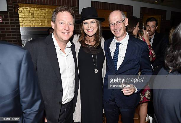 Mike Feldman Savannah Guthrie and James Goldston attend the CAA TV News Party 2016 at Hudson Bar on September 14 2016 in New York City