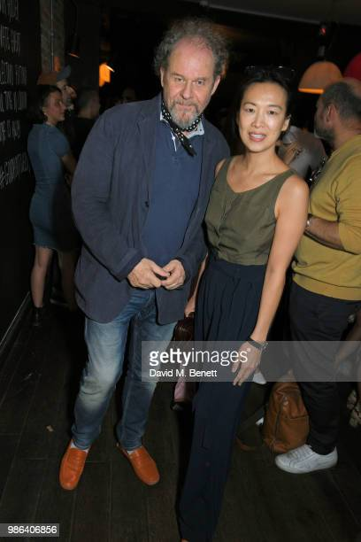 Mike Figgis and Rosey Chan attend London dinner to celebrate the Persol SS/18 Good Point Well Made Live Series hosted by Jefferson Hack and Brandon...