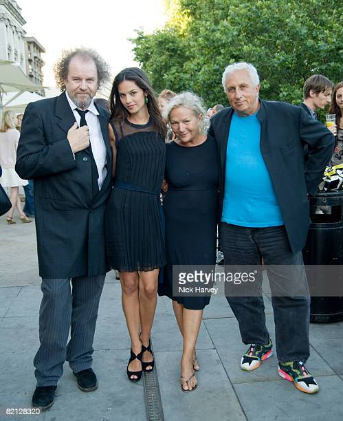 Mike Figgis Katie Saunders Agnes B and Massimo Vitali at the 'Piazza di Spagna' exhibition at Somerset House on July 30 2008 in London England