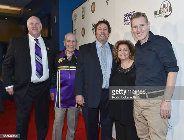 Mike Fisher Chief Oren Lyons Peter Spirer Gale Anne Kelley and Peter Baxter arrive at the premiere of 'Spirit Game Pride of A Nation' at Writers...