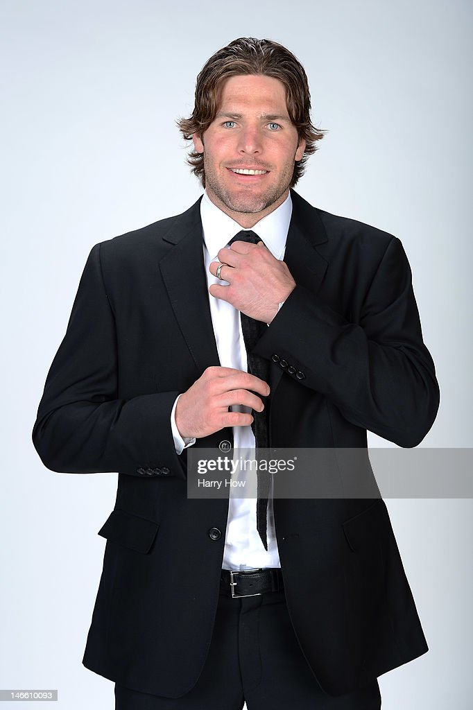 Mike Fisher of the Nashville Predators poses for a portrait during the 2012 NHL Awards at the Encore Theater at the Wynn Las Vegas on June 20, 2012 in Las Vegas, Nevada.