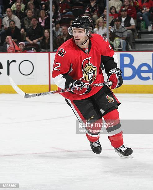 Mike Fisher of the Ottawa Senators skates against the Buffalo Sabres at Scotiabank Place on March 17 2009 in Ottawa Ontario Canada