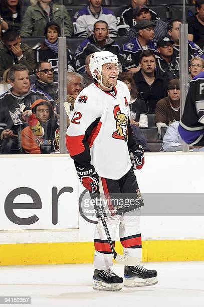 Mike Fisher of the Ottawa Senators skates on the ice against the Los Angeles Kings during the game on December 3, 2009 at Staples Center in Los...