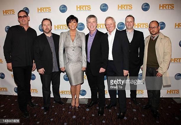 Mike Fleiss Brent Montgomery Kris Jenner Tom Bergeron Bertram van Munster Conrad Green and Eli Holzman attend The Hollywood Radio Television Society...