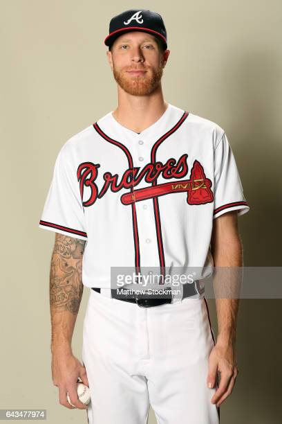 Mike Foltynewicz poses for a portrait during Atlanta Braves Photo Day at Champion Stadium on February 21 2017 in Lake Buena Vista Florida