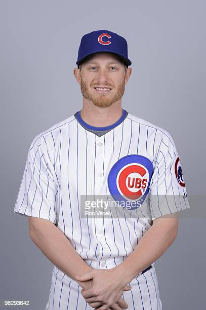 Mike Fontenot of the Chicago Cubs poses during Photo Day on Monday March 1 2010 at HoHoKam Park in Mesa Arizona