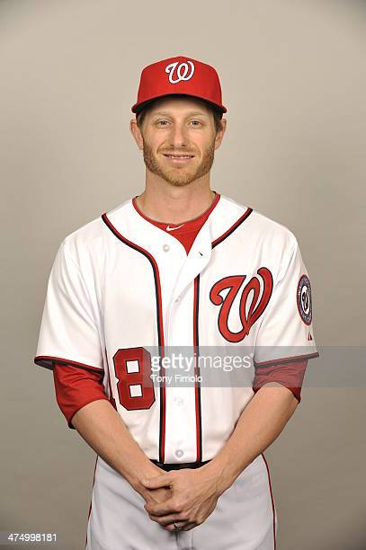 Mike Fontenot of the Washington Nationals poses during Photo Day on February 23 2014 at Space Coast Stadium in Viera Florida